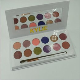 Wholesale Pen Multi Colors - Kylie Royal Peach Pallete Jenners 12color Eyeshadow palette with pen Cosmetics The new 12color Eyeshadow Palette Preorder Kyshadow free dhl