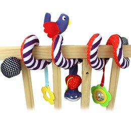 Wholesale Bell Seats - Wholesale- New Baby Toy Crib Car Bed Seat Spiral Hanging Toy Hanging Decoration Ring Bell Baby Rattle Educational