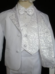 Wholesale Baby Baptism Suits - Baby Boy Children Formal Tuxedo Communion Baptism Church Suit White sz: S to 7