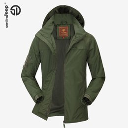 Wholesale Parka Style Waterproof Jacket - Wholesale- Spring Jacket Men Autumn Fashion Hooded Jackets Light Parkas Jacket Badge Waterproof Thin Leisure Plus Size Casual Brand 4XL