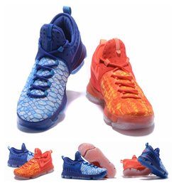 Wholesale Kds Shoes For Cheap - 2017 new KD 9 Fire & Ice Basketball Shoes Men Cheap Kds KD9 EP Kevin Durant 9 Sneakers for sale