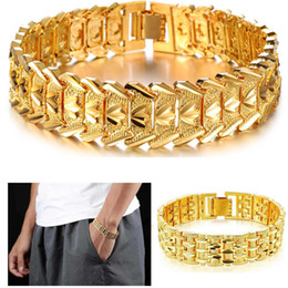 Wholesale Chunky Chain Link Bracelets - Classic Couple Heart Bracelet 18K Gold Platinum Plated Chunky Lovely Bangles Fashion Jewelry Gift For Love