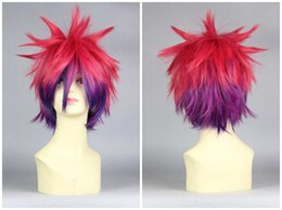 Wholesale Multi Color Short Wigs - MCOSER Fashion Synthetic High Quality 30cm Special Short Multi Color No Game No Life Sora Cosplay Wig