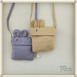 Wholesale Wholesale Messenger Purses - Korean Children Bags New Cartoon Bunny Girls Messenger Bag Cute Rabbit Kids Mini Single-shoulder Bags C1800