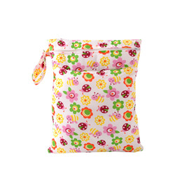 Wholesale Reusable Baby Diaper Bags - Wholesale- Newest 5 Colors Useful Waterproof Reusable Zipper Baby Cloth Diaper Wet Dry Bag Swimer Tote Double Zipper