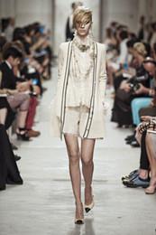 Wholesale Short Cardigan Buttons - elegant 2017 autumn fashion women's cardigans luxury brand designer sweaters runway clothing white black