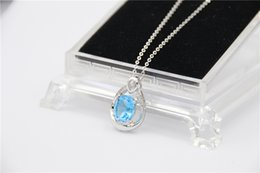 Wholesale 925 Sterling Silver Supplies - Authentic 925 Sterling Silver quality A++ Fashion jewelry personalized hollow blue crystal pendant jewelry making supplies fit pandora