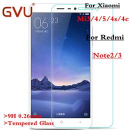 Wholesale Note3 Screen Protector - Wholesale-Tempered Glass For Xiaomi Mi3 Mi4 Mi5 Mi4s Mi4c Glass Premium Explosion Anti Shatter Screen Protector Film For Redmi Note2 Note3