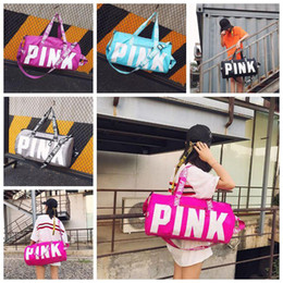 Wholesale wholesale luggage bag - 5 Colors Canvas Secret Storage Bag Pink Duffel Bags Unisex Travel Bag Waterproof Victoria Casual Beach Exercise Luggage Bags 10pcs