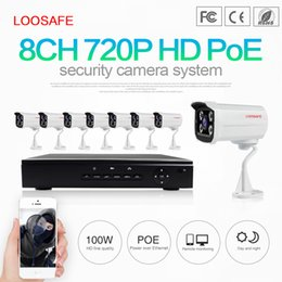 Wholesale Security Camera System Smart - LOOSAFE Smart Home Security Systems 8ch 720p POE IP Cameras and 8 Channel POE NVR Simplified Power Over Ethernet Technology