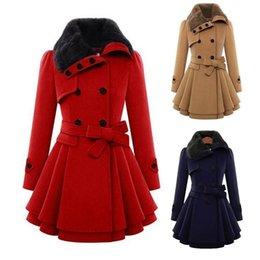Trendy Stilvolle Frauen Winter Zweireiher Schlank Dicker Mantel Jacke Lange Outwear S-2XL von Fabrikanten