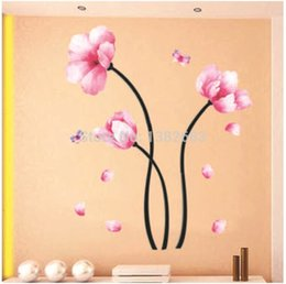 Wholesale Wall Decals For Tv Room - Wholesale- Free shipping PVC DIY Living room bedroom TV background Hangings Decals Wallpaper Decoration Wall Stickers TC927