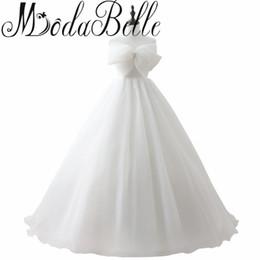 Wholesale Corset Big Wedding Dress - Real Sample Wedding Dress Vestidos De Noivas Princesas 2017 Robe De Mariage Musulman Corset Wedding Dress With Big Bow Under 100