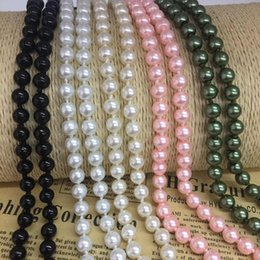 Wholesale Necklace Props - 2017 Brand New High Quality 1.5m Long Beaded Pearl Necklace For Baby Photo Props Sweater Chain For Women Jewelry