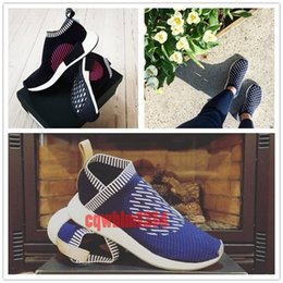 Wholesale Nude Packing - NMD CS2 PK Ronin Pack Shoes 2017 New Men Women City Sock 2 SE Core Black Pink Blue White Glitch Red Primeknit Boost Sneakers Size 36-44