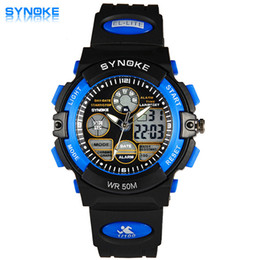 Wholesale Led Top For Girls - SYNOKE Top Children Watch Kids Watches LED Digital Girls Boys Clock Child Sport Wrist Watch Electronic for Girl Boy Surprise Gif