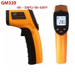 Wholesale Infrared Temperature Meter - GM320 Non-Contact Digital Infrared Thermometer Pyrometer IR Laser Temperature Meter -50~330C Degree Electronic Point Gun