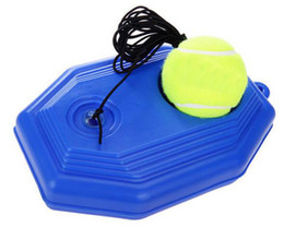 Wholesale Tennis Balls Elastic - Wholesale- Outdoor Tennis Training Ball Elastic Rubber Band Tennis Ball Trainer With Plastic Base
