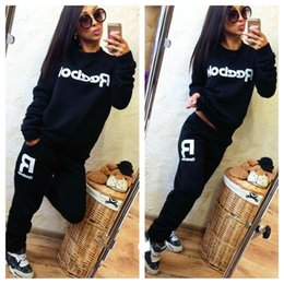 Wholesale Long Pics - Spring Autumn New Female Casual O-neck Long Sleeve Pullovers Sweatshirts+Long Pants Ladies Two Pics Sets Sportswear Fleece Suits women
