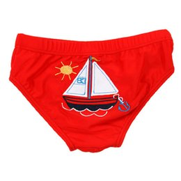 Wholesale Baby Yellow Swimsuits - Wholesale- Boy swimswear Triangular Swimming Trunks For 1-5Y Baby Children Swimwear Cute Kids Swimsuit Cartoon Animals Pattern SW029-CGR3
