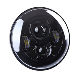 """Wholesale Headlight Projector Lamp - 2017 New 7"""" Round LED Sealed Beam Headlight 7"""" Motorcycle Projector Daymaker H4 Hi Lo LED Headlight for Harley Motorcycle Lamp"""