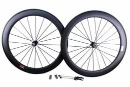 Wholesale Novatec Hub Rear Front - carbon bike wheels 60mm basalt brake surface clincher tubular road bicycle wheelset 700C width 25mm Powerway or Novatec hub available
