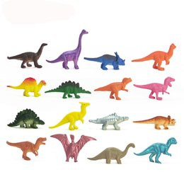 Wholesale Boys Dinosaur Set - Dinosaurs Model Cute Animals Gifts Boys Toys Hobbies Kids Mini Small Plastic Dinosaurus action Figures 16pcs Set Toy