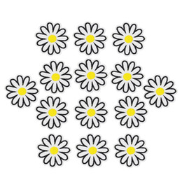 Wholesale Diy Accessory Applique Iron Badge - 10pcs DIY Blossom Patches Clothing Iron Embroidered Patch Applique Iron On Patches Sewing Accessories Badge Stickers On Clothes Bag