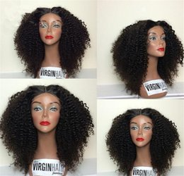Wholesale Chinese Afro Kinky Curly - 8A Mogolian Kinky Curly Full Lace Human Hair Wigs For Black Women Virgin Glueless Full Lace Wigs Afro Kinky Curly Lace Front Wig