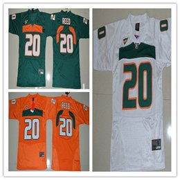 Wholesale Boys Athletic Shorts - 2017 Miami Hurricanes Youth Jerseys #20 Ed Reed College sports boys jersey Embroidery Athletic Outdoor Apparel jersey