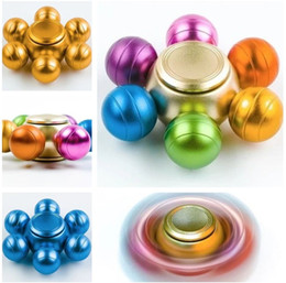 Wholesale Mini Toy Top - 2017 Hot selling Dragon Ball Alloy Hexagonal Fidget Spinner Hexa-spinner EDS Anti-stress Rotation Metal Spinners Decompression Spinning Top