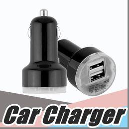Wholesale Apple Usb Flash - Colorful Mini Car Charger USB 2 Port Cigarette 2.1A Chargers Micro Dual USB Adapter Flash Nipple Dual USB Port for Phone & Pad M-SC