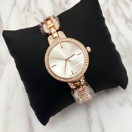 montres en cristal Promotion 2018 Relojes De Marca Mujer Mode Quartz Montre Casual Steel Dial Style haute qualité femme complète Crystal Diamond robe horloge party montres