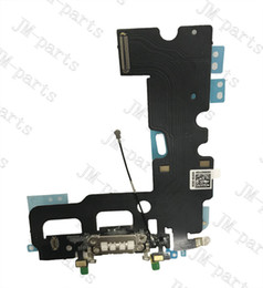 Wholesale Dock Connector Port Iphone Parts - New USB Dock Connector Charging Port Flex Cable For iPhone 7 Plus 7P USB Charger Flex Cable Repair Parts