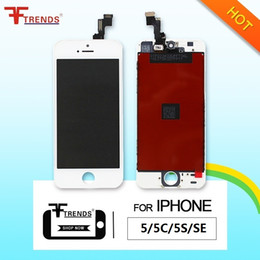 Wholesale Iphone Full Repair - High Quality for iPhone SE 5 5C 5S LCD Display & Touch Screen Digitizer Full Assembly Replacement Repair Parts Black White Free Shipping