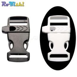 "Wholesale paracord whistle bracelet - 50pcs lot 3 4"" Emergency Side Release Whistle Buckles For Paracord Bracelet Outdoor sports Bracelet accessories"