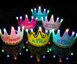 ha condotto il cappello del cappello del cappello Sconti All'ingrosso-LED Bagliore luminoso Berretto con cappelli per bambini fornitore Lampeggiante Accessorio per capelli Fascia per capelli Fascia per bambino Principessa Corona di carta