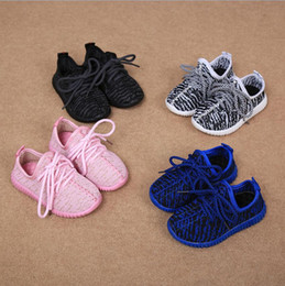 Wholesale Cheap Girls Summer Shoes - Cheap Baby Kids Kanye West 350 Boost Children Athletic Shoes Boys Running Shoes Girls Casual Shoes Baby Training Sneakers Size 21-35