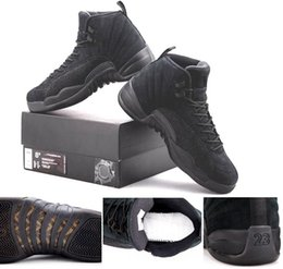 Wholesale Cayenne Black - OVO Black 12 Retro 12s real carbon fiber Top Quilaty BENTLEY ELLIS CRAWFISH CAYENNE RED GOL Men Size Basketball free shipping Shoes With Box