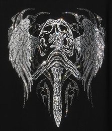 Wholesale Appliques Hotfix - 2017 angel new hot fashion clothing,Garment,Shoes Cute hotfix rhinestones heat transfer design iron on motifs patches,rhinestone applique.