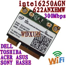 Wholesale Intel Wireless Pci - Wholesale- Wireless card For Intel Centrino Advanced-N N + WiMAX 6250 Wireless MINI PCI-E MIMO Card 622ANXHMW 802.11a b g n 300 Mbps