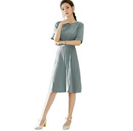 Wholesale Korean Slim Skirt - 2017 hot Selling New pattern,Korean,Temperament,Tie medium skirt,Paige,Slim,Bouffancy,Dress,Elbow sleeve,Leisure simplidity