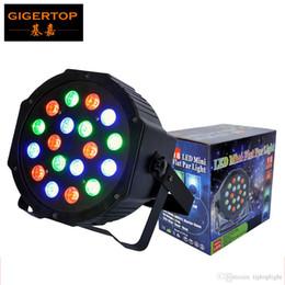 Wholesale Par Dim - TIPTOP Stage Light 18*3W Plastic Flat led Par Light DMX 512 Control 3 6 Channels Dual Mode Single RGB Color Linear Dimmer Strobe Effect