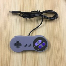 Wholesale Ps2 Controller Buttons - Retro Gaming for SNES USB Wired Classic GamePad Joystick Controller For Windows PC Six digital buttons colorful button   purple button