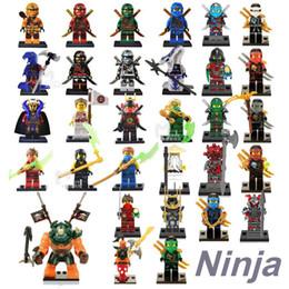 Wholesale Ninja Plastic Building Blocks Toys - 31pcs Ninja figures marvel super heroes minitoy go building blocks figures bricks toys action figure dhl free OTH027