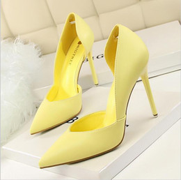 Wholesale White Wedding Almonds - New Summer Shoes Women Elegant Pumps Pointed Sexy Club Ultra Thin High Shoes High-heeled Shoes Hollow Sweet Stiletto