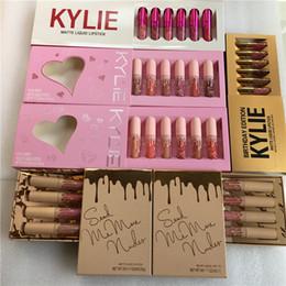Wholesale Gold Velvet Set - Kylie Vacation Valentine Holiday Gold Bithday Edition Set Mini Matte Liquid Lipstick Set Kylie I Want It All kyshadow Velvet Lip Gloss kits