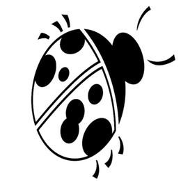 Wholesale Ladybug Body - Wholesale 20pcs lot Home Decorations Automobile and Motorcycle Vinyl Decal Car Glass window Stickers Jdm Ladybug Ladybugs Beetle Beetles