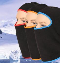 Wholesale Face Protection Cold - New recommend neutral cold warm black riding mask designer wind protection neck velvet head soft breathable ski face masks for men wholesale