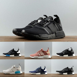 Wholesale Cheap Discount Running Shoes - 2017 Wholesale Discount Cheap NMD Runner Primeknit Sales White Red Blue NMD Runner Sports Shoes Men Woman NMD Running Boost